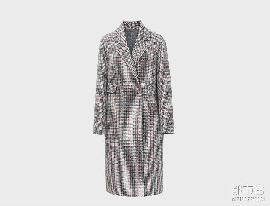 MM麦檬 气质格纹大衣