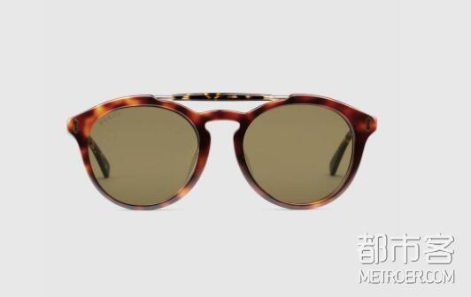 GUCCI古驰 贴合设计圆框太阳眼镜