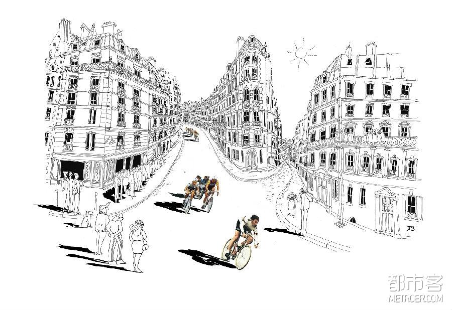 作品《比利牛斯路》  它的名字、地势的起伏、附近的居民、夏日的炎热,都让人想到环法自行车赛的伟大史诗。