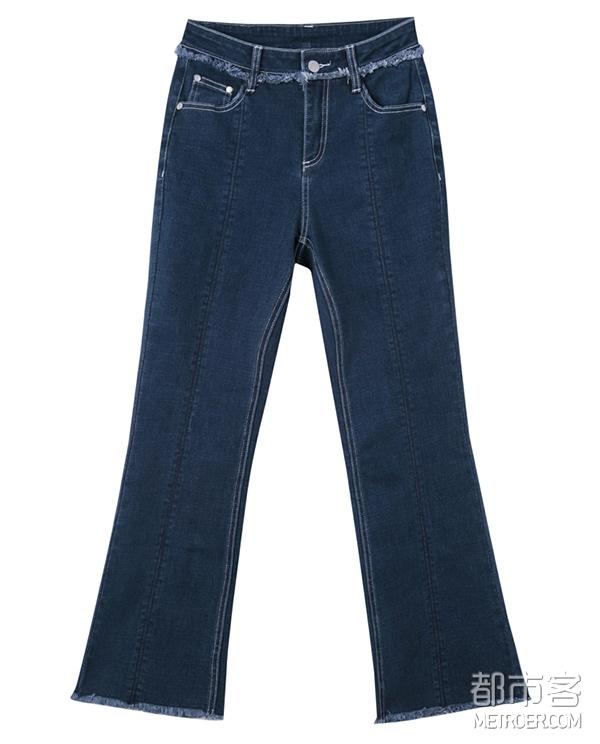 太平鸟 微喇牛仔裤