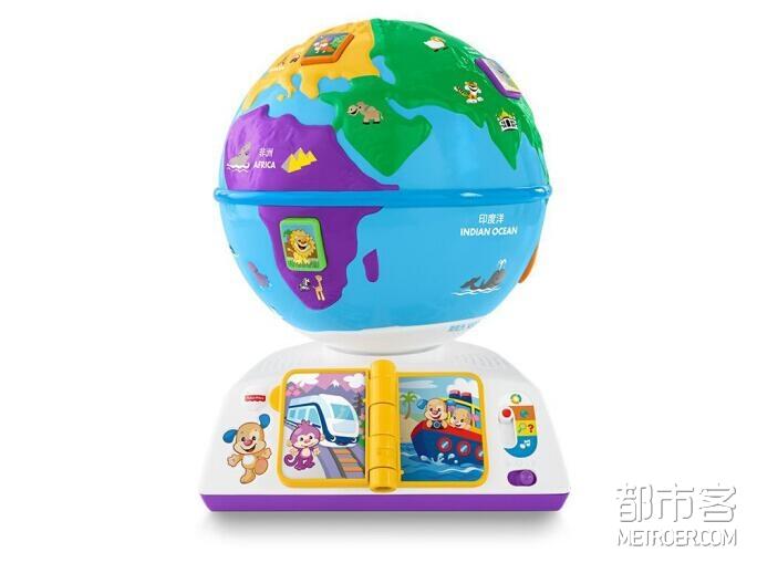 Fisher-Price费雪 多功能益智早教玩具—智玩学习地球仪(双语)
