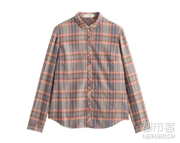 INMAN茵曼 格子衬衫