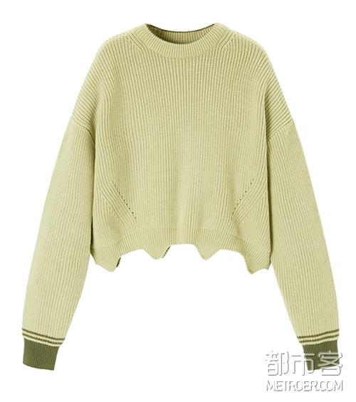 PEACEBIRD 短款毛衣