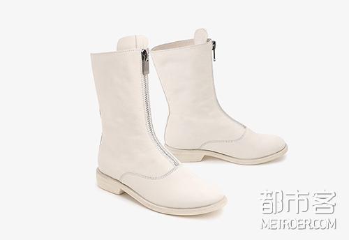 Belle 中筒小白靴