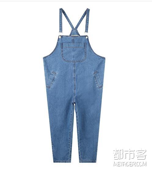 森宿 水洗背带牛仔裤