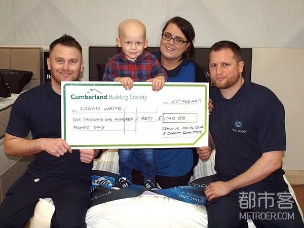 丝涟为正在接受抗癌治疗的三岁孩子罗根,专门成立了丝涟英国慈善基金会,用于其长期康复治疗