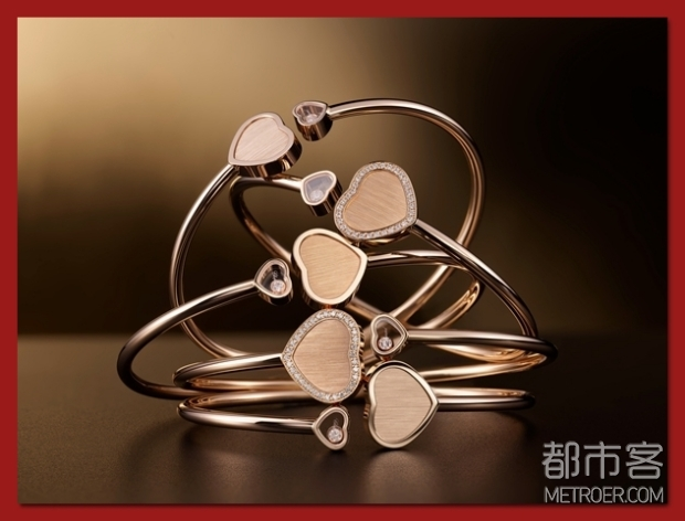 Chopard萧邦Happy Hearts - Golden Hearts系列手镯
