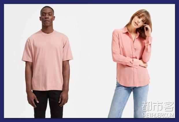 Everlane纯棉宽松圆领T恤、环保真丝衬衫